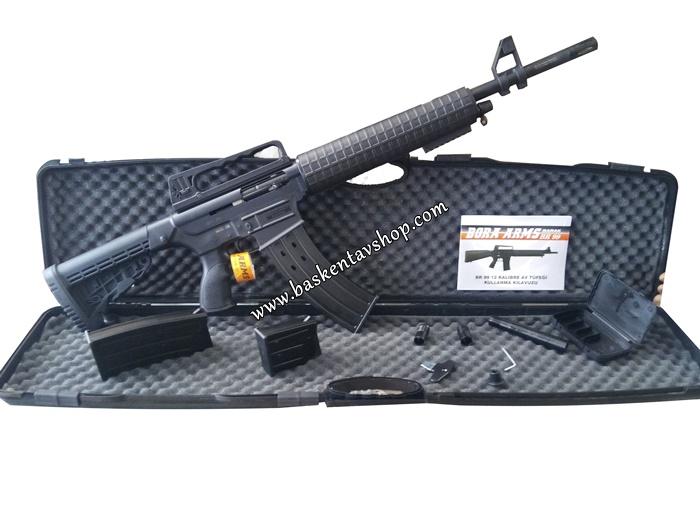 Bora Barak BR-99 12 Kalibre Şarjörlü Yarı Otomatik Av Tüfeği Siyah