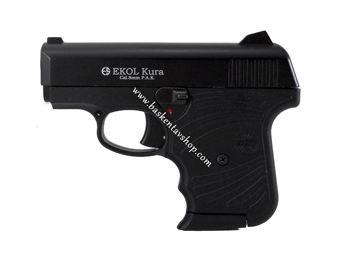 Ekol Kura 8mm 6+1 Kurusıkı Tabanca Siyah-av12234