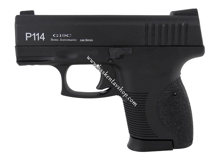 Retay P114 G19C Kurusıkı Tabanca Siyah-av12091