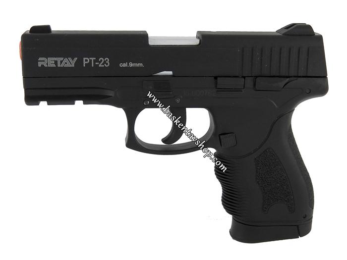 Retay PT-23 9mm 15+1 Kurusıkı Tabanca Siyah-av12432
