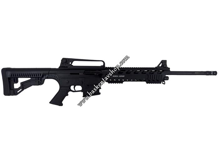 Bora Barak BR-20 Alüminyum Kundak Şarjörlü Yarı Otomatik Av Tüfeği Siyah