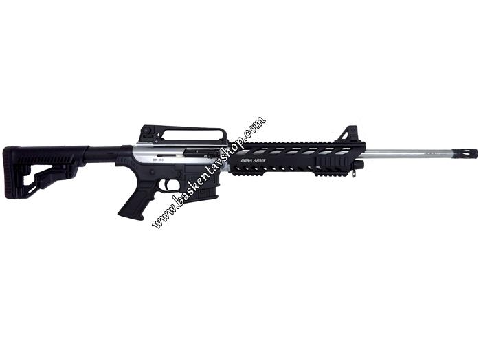 Bora Barak BR-20 Alüminyum Kundak Şarjörlü Yarı Otomatik Av Tüfeği Nikel