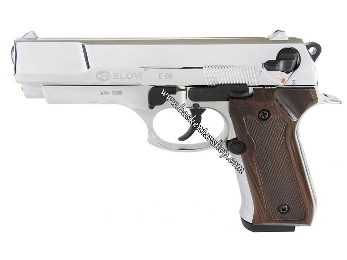 Blow F06 9 mm 17+1 Kurusıkı Tabanca Kahverengi Kabze Parlak Krom