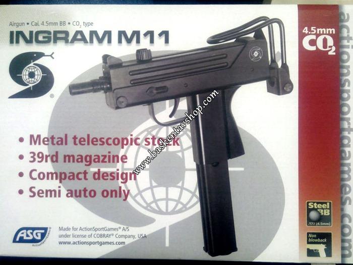 ASG Ingram M11 4.5 mm Havalı Tabanca-av3011