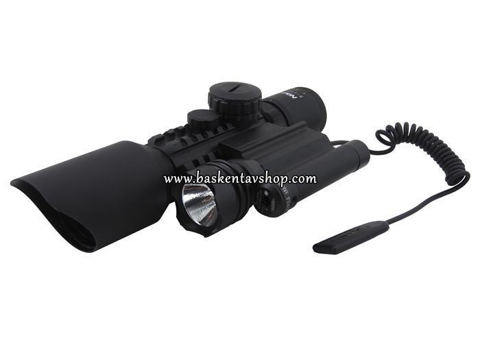 Nikon 3-10X42 Işıklı Tüfek Dürbün Fener ve Lazeri-av13053