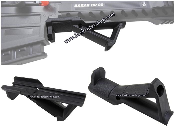22 mm Picatinny Ray Sistemli Tüfeklere Açılı Tactical El Tutamak-av13084