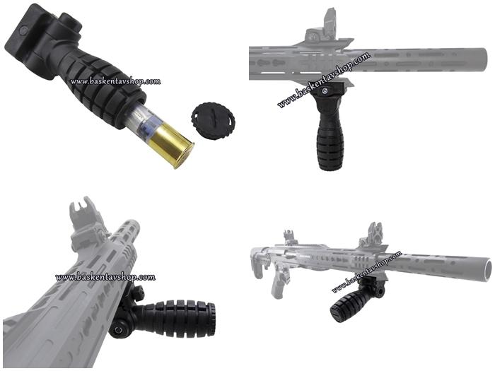 Picatinny Raylı Tüfeklere Fişek Konulan Yan Açılı Elcik-El Tutamak-av13088